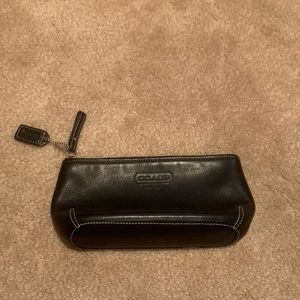 Coach Black Leather Makeup Bag